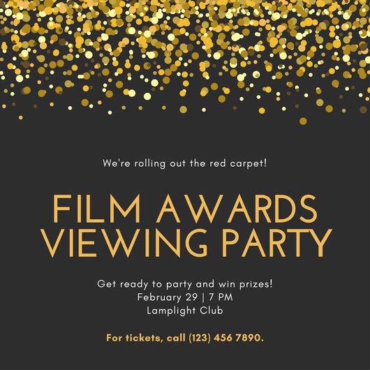 Black and Gold Invitation Elegant Party Invitation Templates Canva