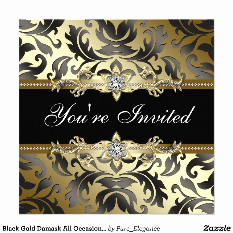 Black and Gold Invitation Template Awesome Black and Gold Invitation Templates