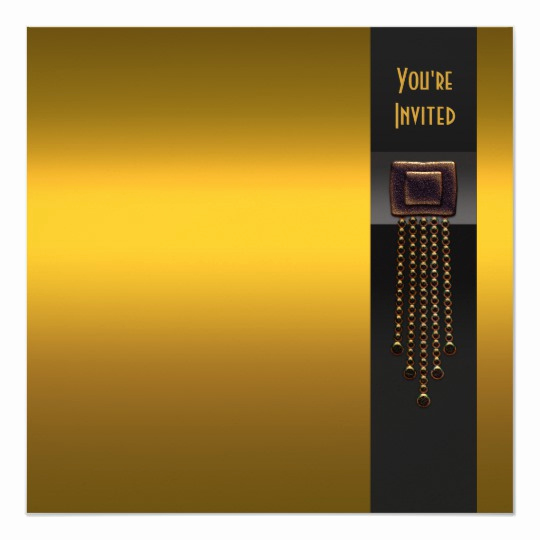 Black and Gold Invitation Template Awesome Black Gold Art Deco Party Invitation Template