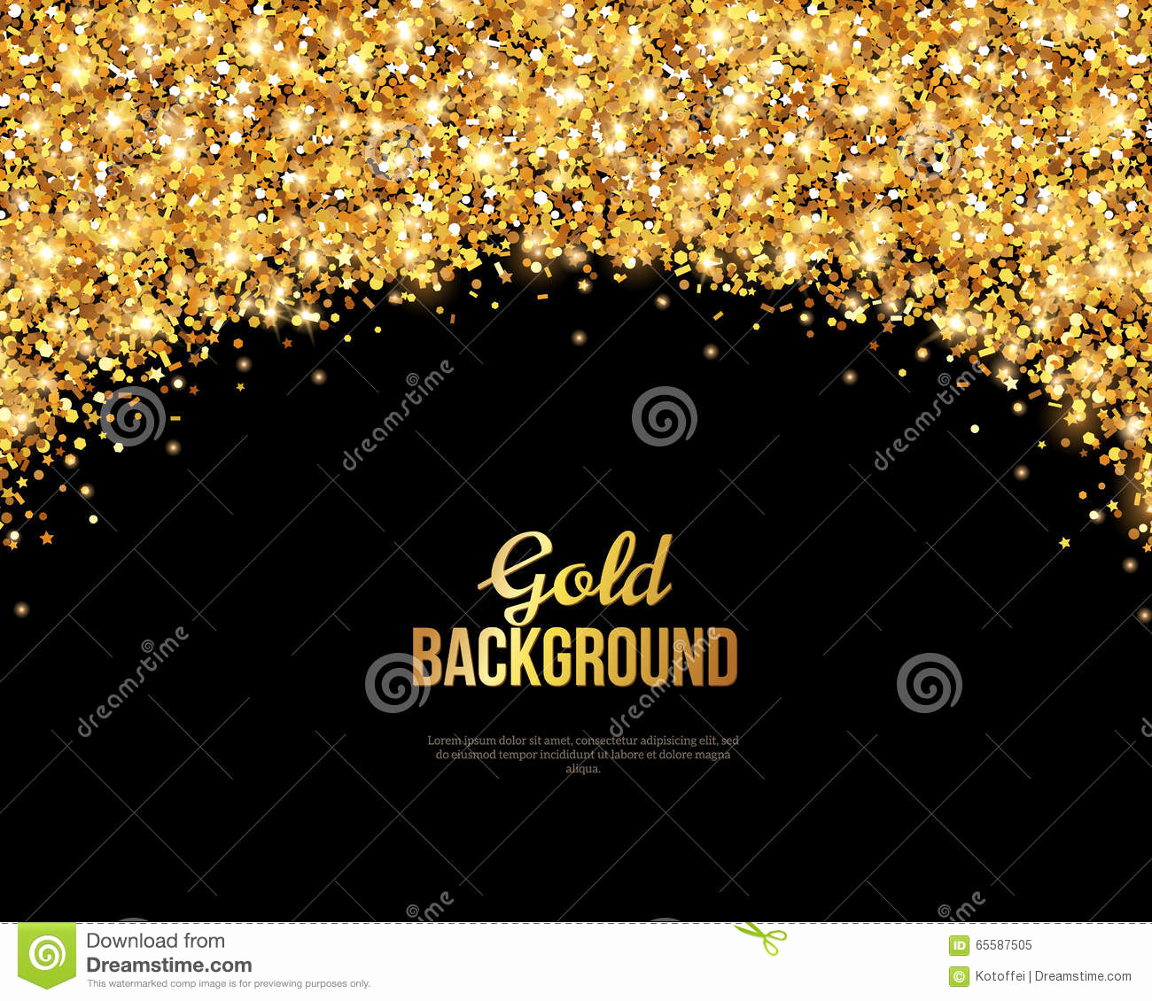 Black and Gold Invitation Template Best Of Black and Gold Banner Greeting Card Stock Vector
