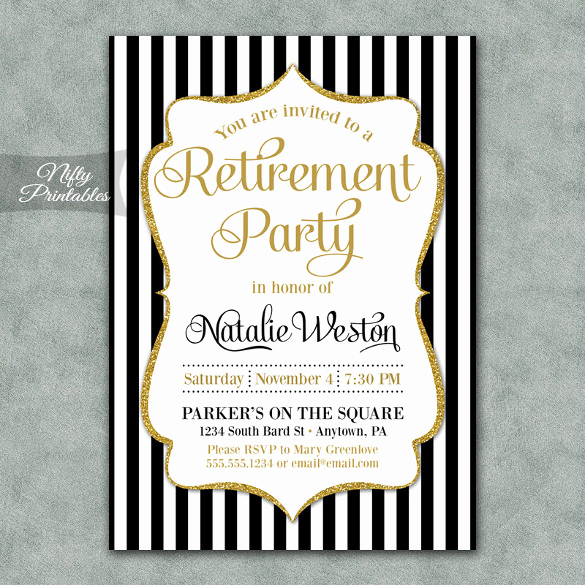 Black and Gold Invitation Template Fresh Retirement Party Invitation Template – 36 Free Psd format