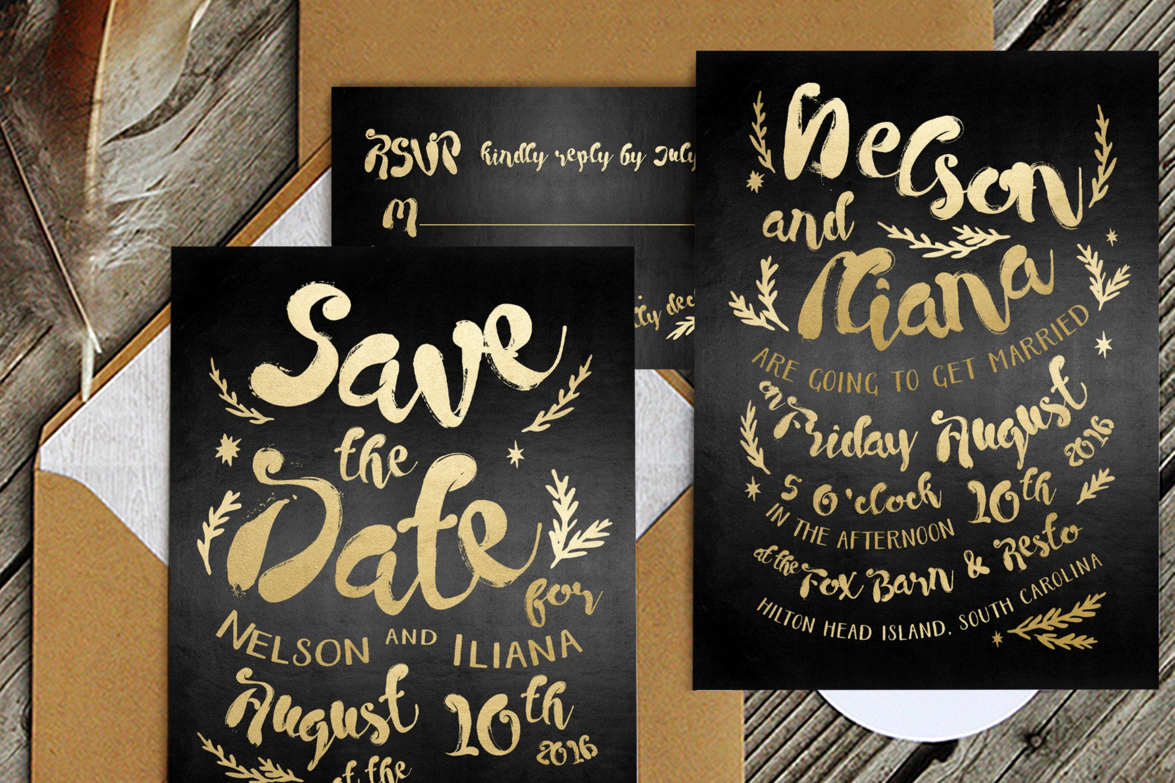 Black and Gold Invitation Template Inspirational Black & Gold Hipster Wedding Suite Wedding Templates