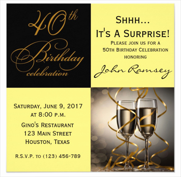 Black and Gold Invitation Template Inspirational Black and Gold Birthday Invitations Free
