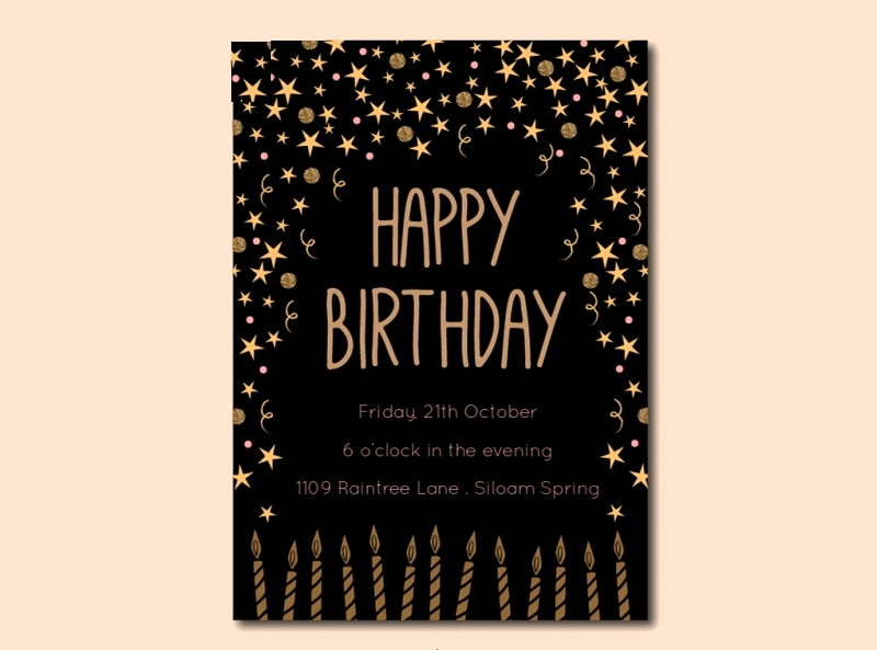 Black and Gold Invitation Template Lovely 14 Black and Gold Birthday Invitation Designs and