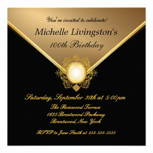 Black and Gold Invitation Template Lovely Elegant Gold Black La S Party Invitations