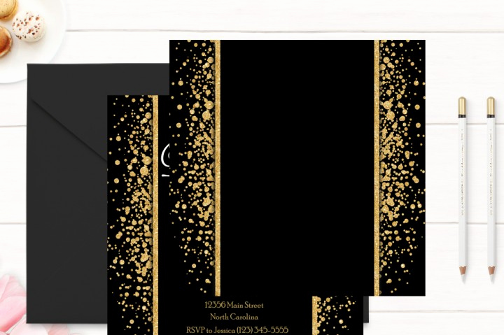 Black and Gold Invitation Template Lovely Gold and Black 50th Birthday Invitation Template by