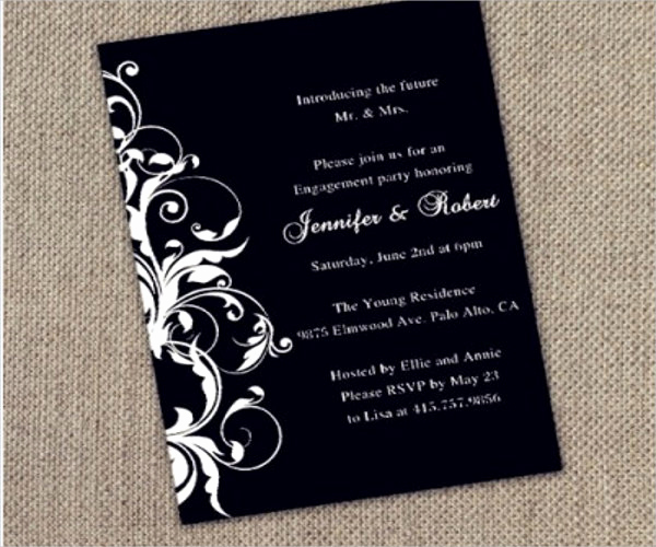Black and White Invitation Best Of 9 Black and White Party Invitation Designs & Templates