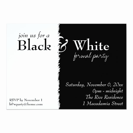 Black and White Invitation Best Of Black and White 2 theme Party Invitation