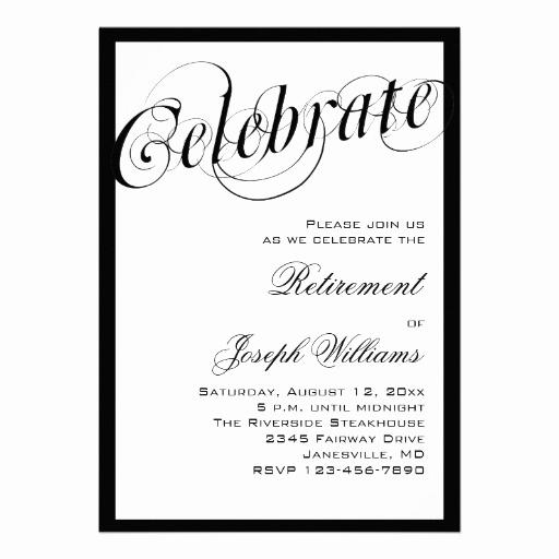 Black and White Invitation Inspirational Elegant Black & White Retirement Party Invitations
