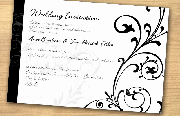 Black and White Invitation Luxury Black and White