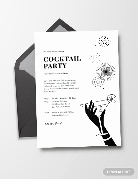 Black and White Invitation Template Elegant 12 Black and White Party Invitations Psd Ai Vector