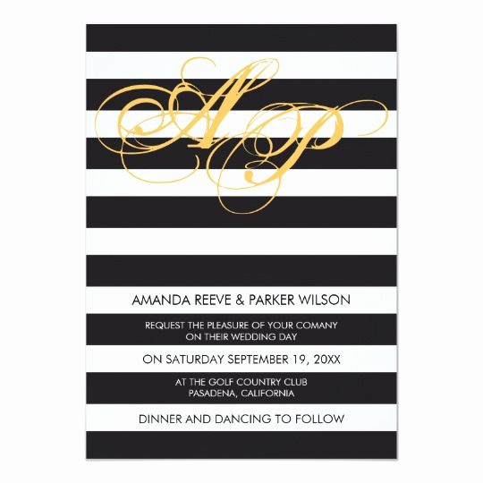 Black and White Invitation Template Fresh Stripe Wedding Invitation Template Black and White