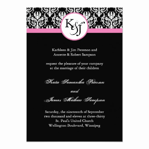Black and White Invitation Template Lovely Black and White Wedding Invitation Template
