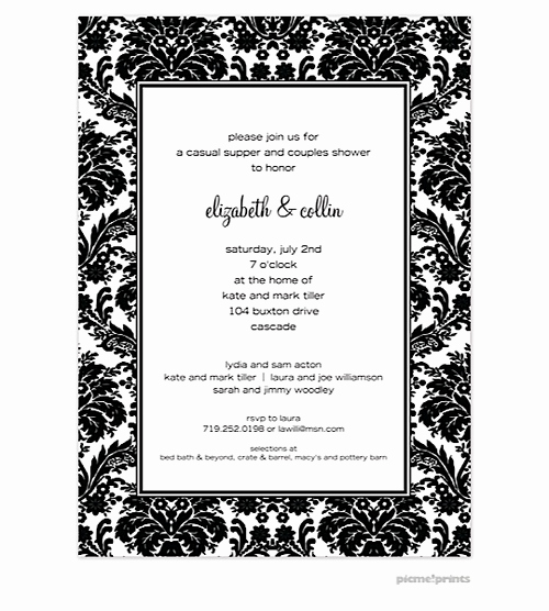 Black and White Invitation Template Luxury Black and White Party Invitations New Selections Spring