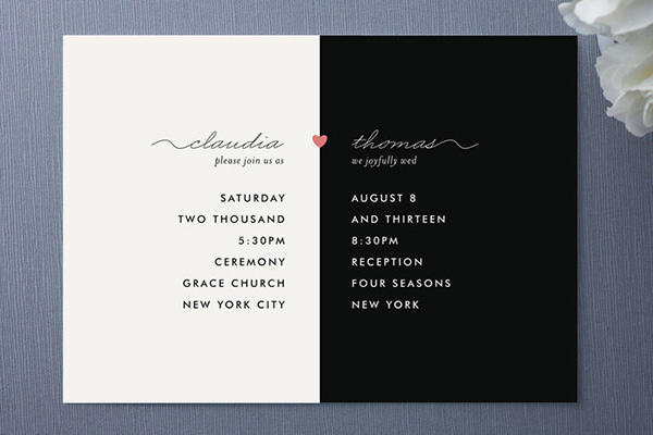 Black and White Invitation Unique Keep It Simple & Chic with Black & White Invitations and