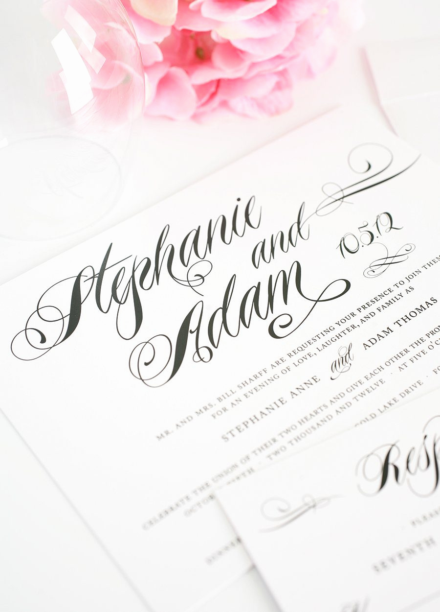 Black and White Wedding Invitation Awesome Classic Black and White Wedding Invitations – Wedding