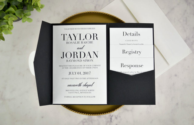Black and White Wedding Invitation Awesome My Diy Story – Cards & Pockets Design Idea Blog