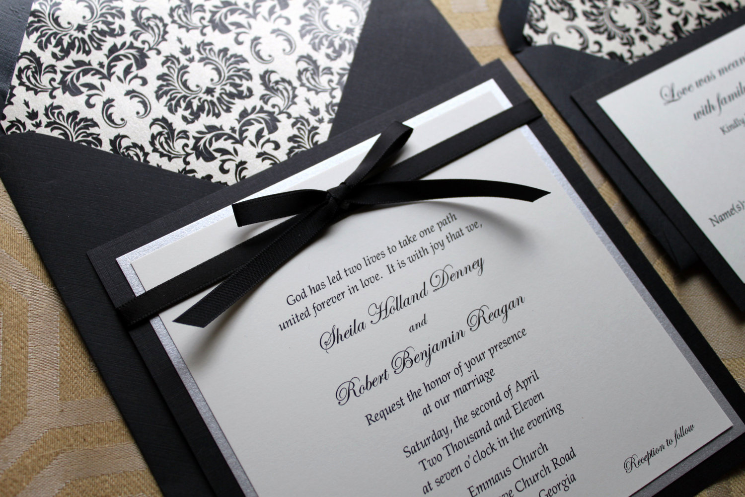 Black and White Wedding Invitation Awesome Simple Black and White Wedding Invitations