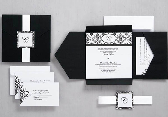 Black and White Wedding Invitation Elegant Black and White Wedding Ideas Happyinvitation