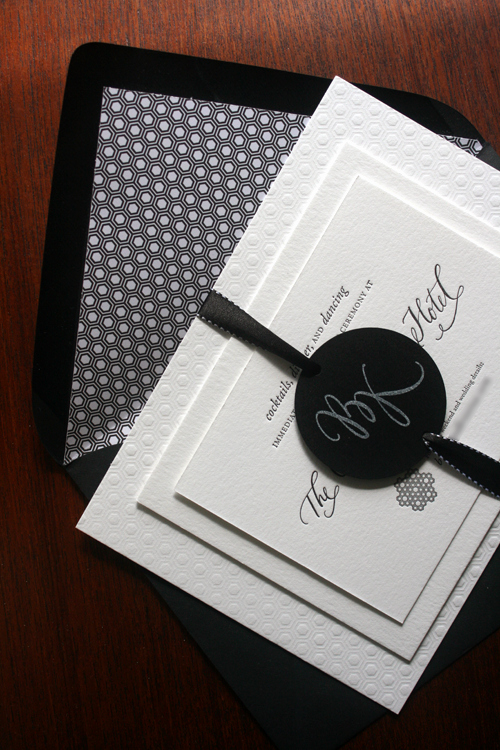 Black and White Wedding Invitation Luxury Kristina Brock S Modern Black and White Wedding Invitations