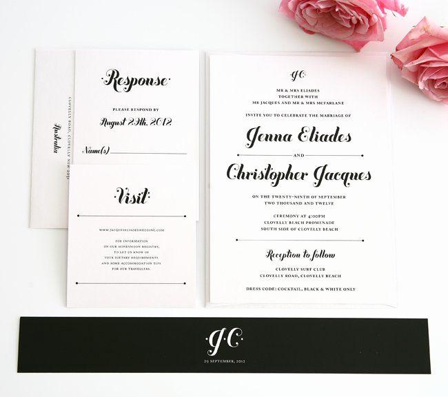 Black and White Wedding Invitation New Black and White Wedding Invitations – Wedding Invitations