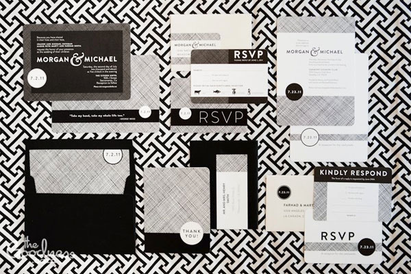 Black and White Wedding Invitation New Modern Black White Wedding Invitations Invitation Crush