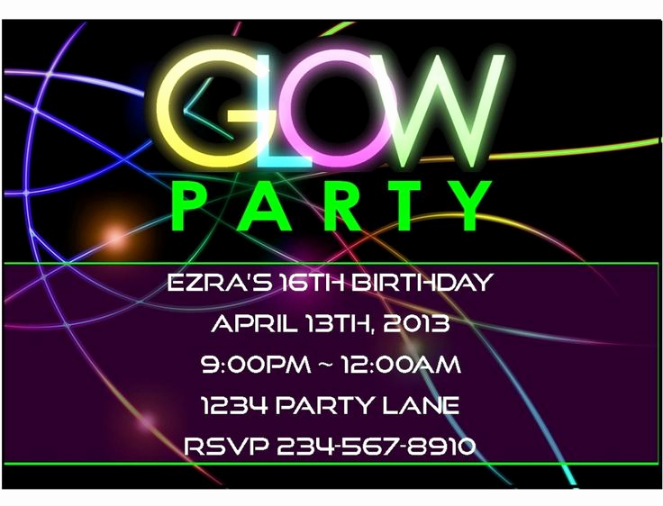Black Light Party Invitation Templates Elegant Black Light Party Invitations Free Parties