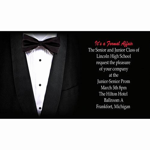 Black Tie event Invitation Awesome Tuxedo Personalized Invitation Stumps