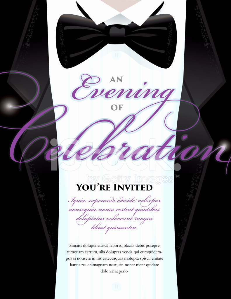 Black Tie event Invitation Beautiful Elegant Black Tie event Invitation Template with Tuxedo