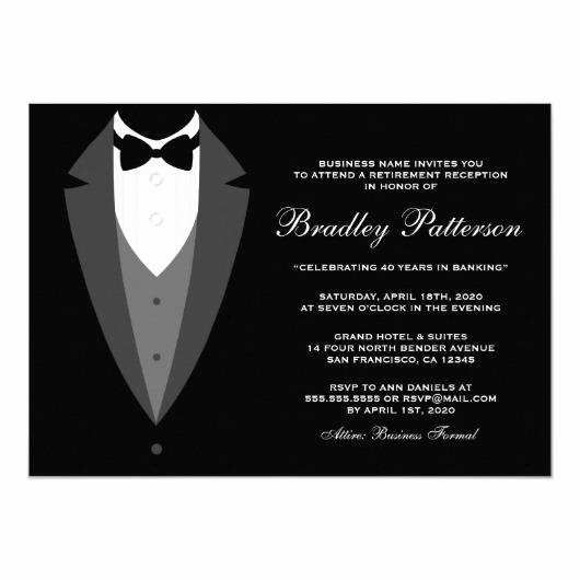 Black Tie event Invitation Best Of Charity Dinner Black Tie event 4 5×6 25 Paper Invitation