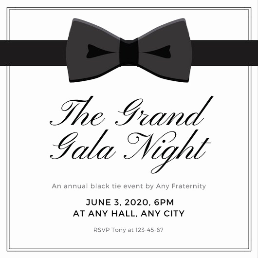 Black Tie event Invitation Best Of Design Templates Canva