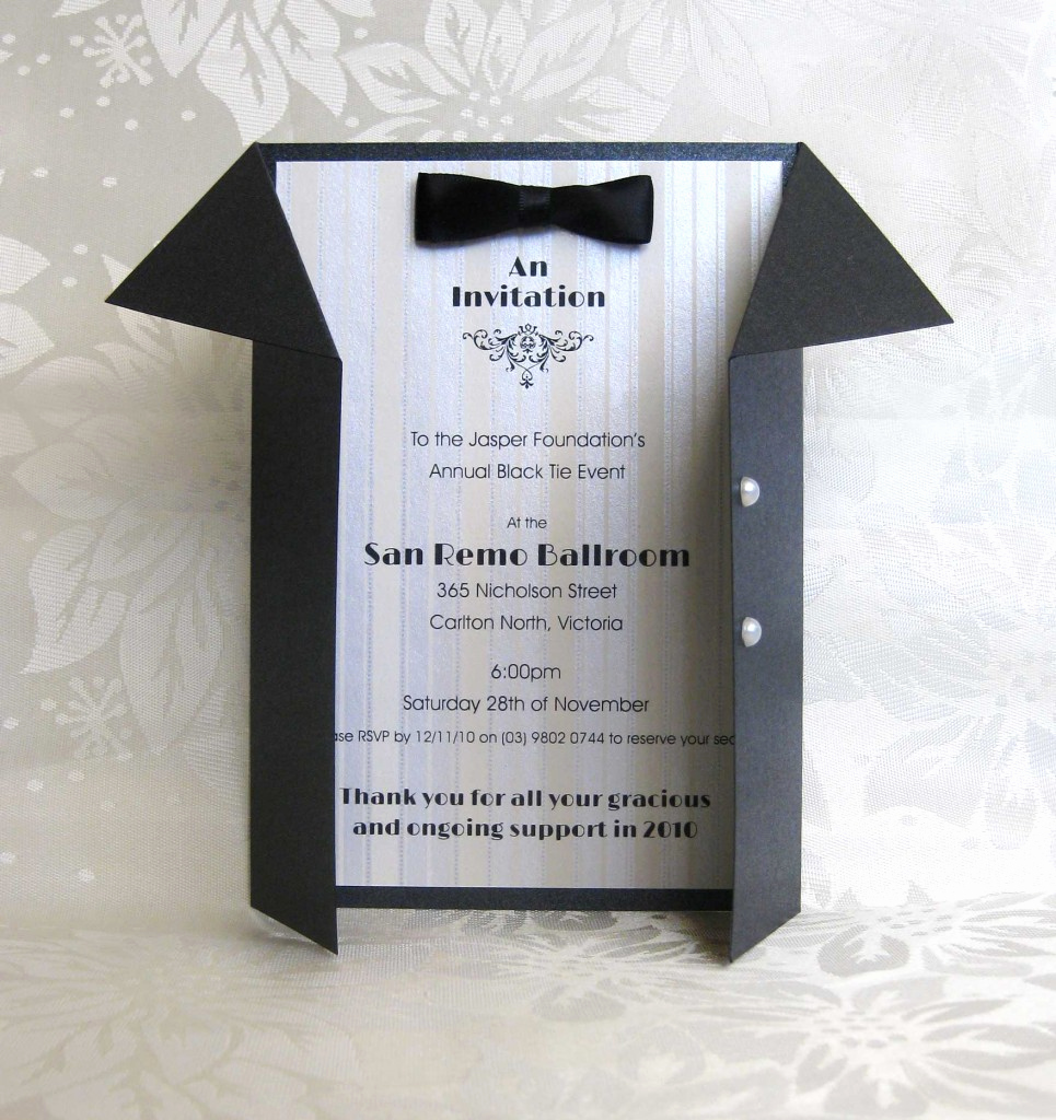 Black Tie event Invitation Lovely Weddings Invitations Paperteria Black Tie event Invite