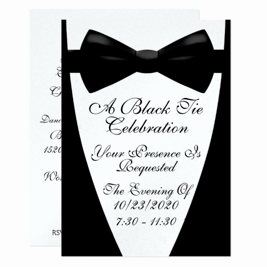 Black Tie event Invitation Luxury An Elegant formal Black Tie event Invitation