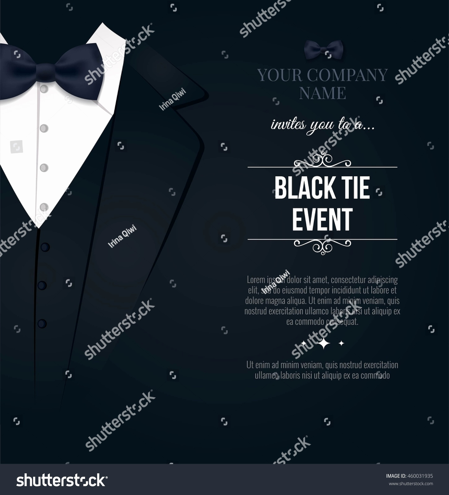Black Tie event Invitation New 58 Black Tie event Invite Black Tie Invite 2016 the