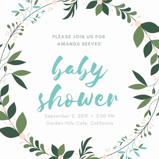 Blank Baby Shower Invitation Template Inspirational Customize 578 Baby Shower Invitation Templates Online Canva