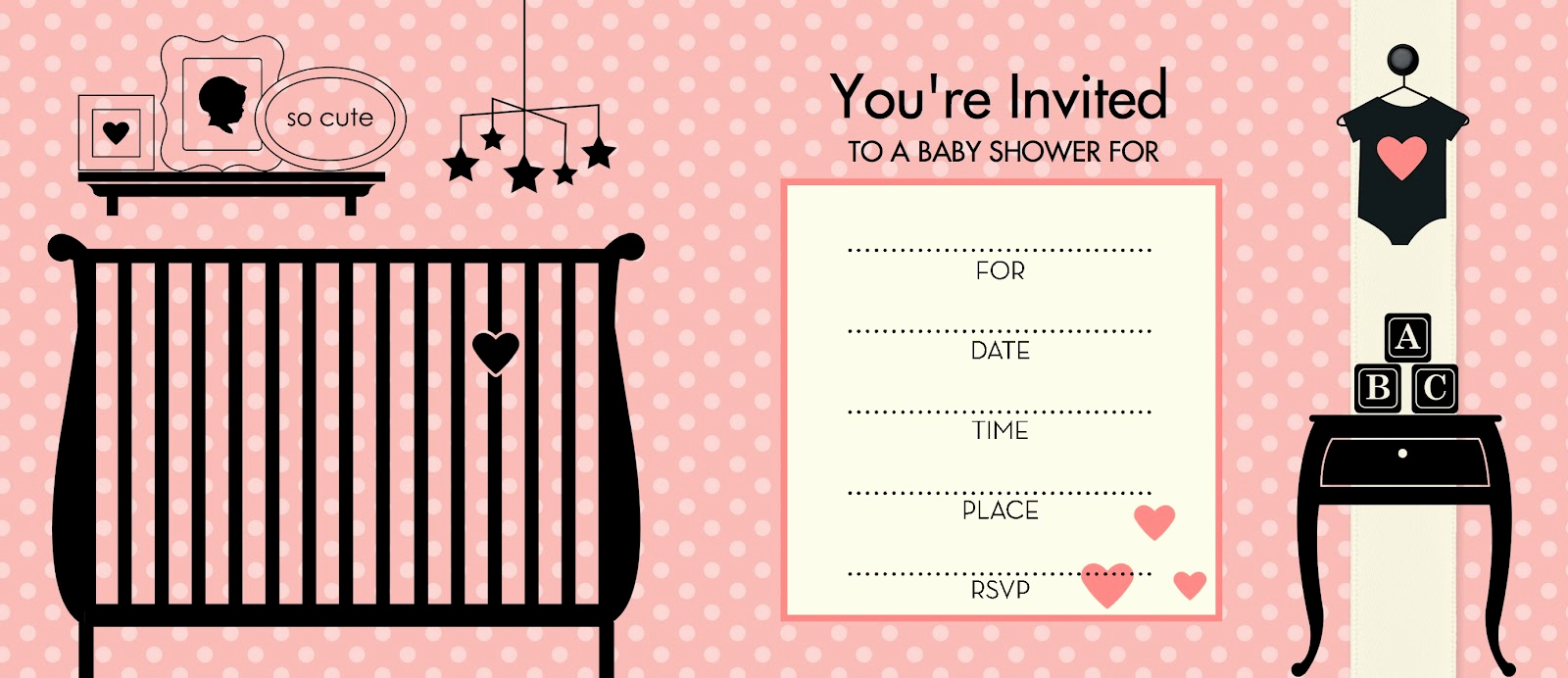 Blank Baby Shower Invitation Template New Blank Baby Shower Invitations