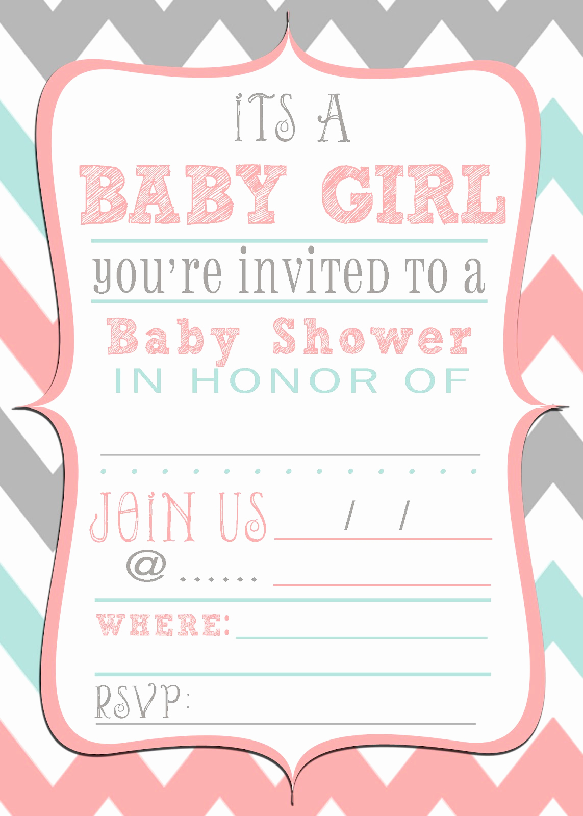 Blank Baby Shower Invitation Template Unique Mrs This and that Baby Shower Banner Free Downloads