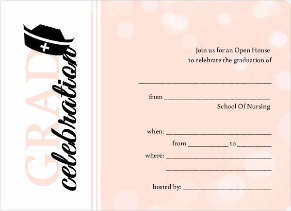 Blank Graduation Invitation Templates Awesome 42 Printable Graduation Invitations Psd Ai Word