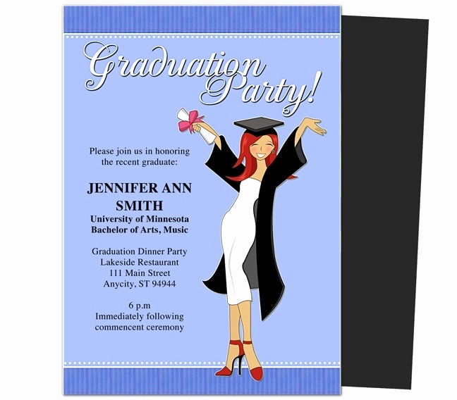 Blank Graduation Invitation Templates Awesome Free Graduation Invitation Templates for Word 2018