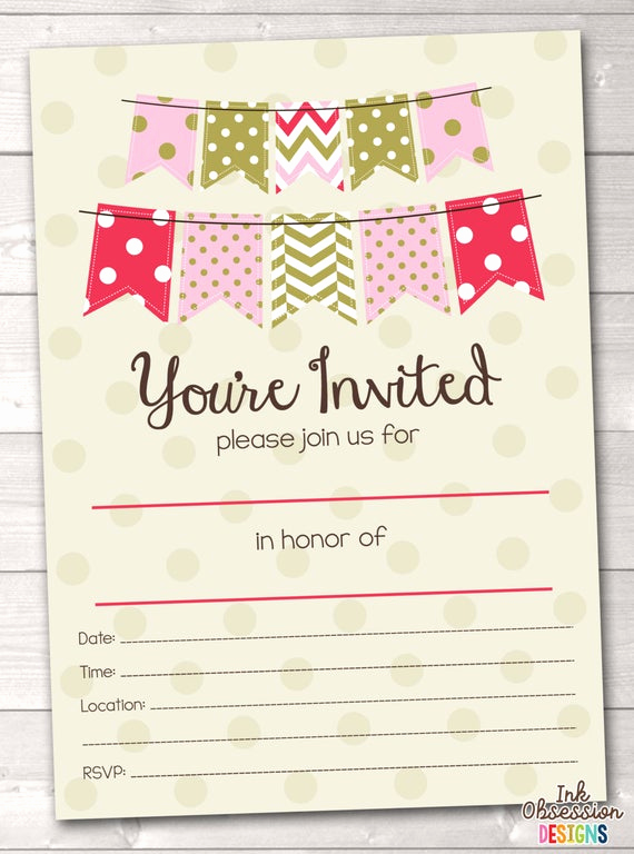 Blank Graduation Invitation Templates Best Of Items Similar to Fill In Blank Party Invitations Printable