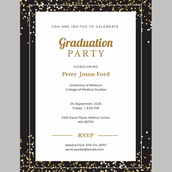 Blank Graduation Invitation Templates Elegant 38 Printable Graduation Invitations Psd Ai