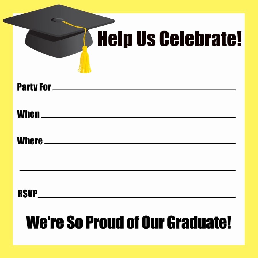 Blank Graduation Invitation Templates Fresh Blank Graduation Invitations Templates