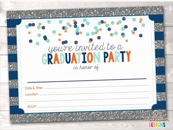 Blank Graduation Invitation Templates Inspirational 29 Graduation Invitations Download