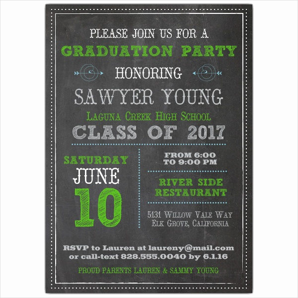 Blank Graduation Invitation Templates New 39 Printable Graduation Invitations