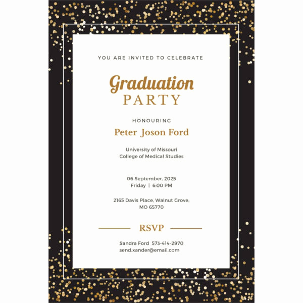 Blank Graduation Invitation Templates Unique 42 Party Invitations Free Psd Vector Ai Eps format