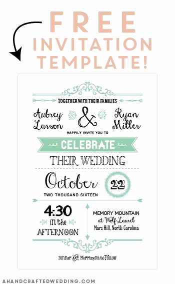 Blank Invitation Templates Free Download Best Of Free Printable Wedding Invitation Template