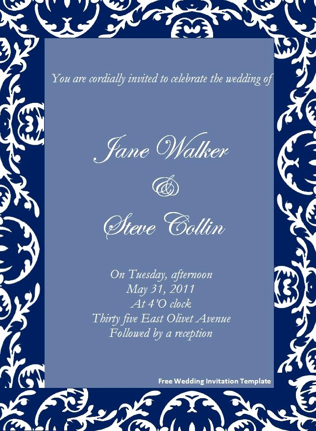 Blank Invitation Templates Free Download Elegant Blank Wedding Invitation Cards Templates Free Download