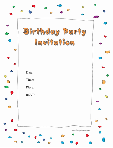 Blank Invitation Templates Free Download Unique 43 Free Birthday Party Invitation Templates Free