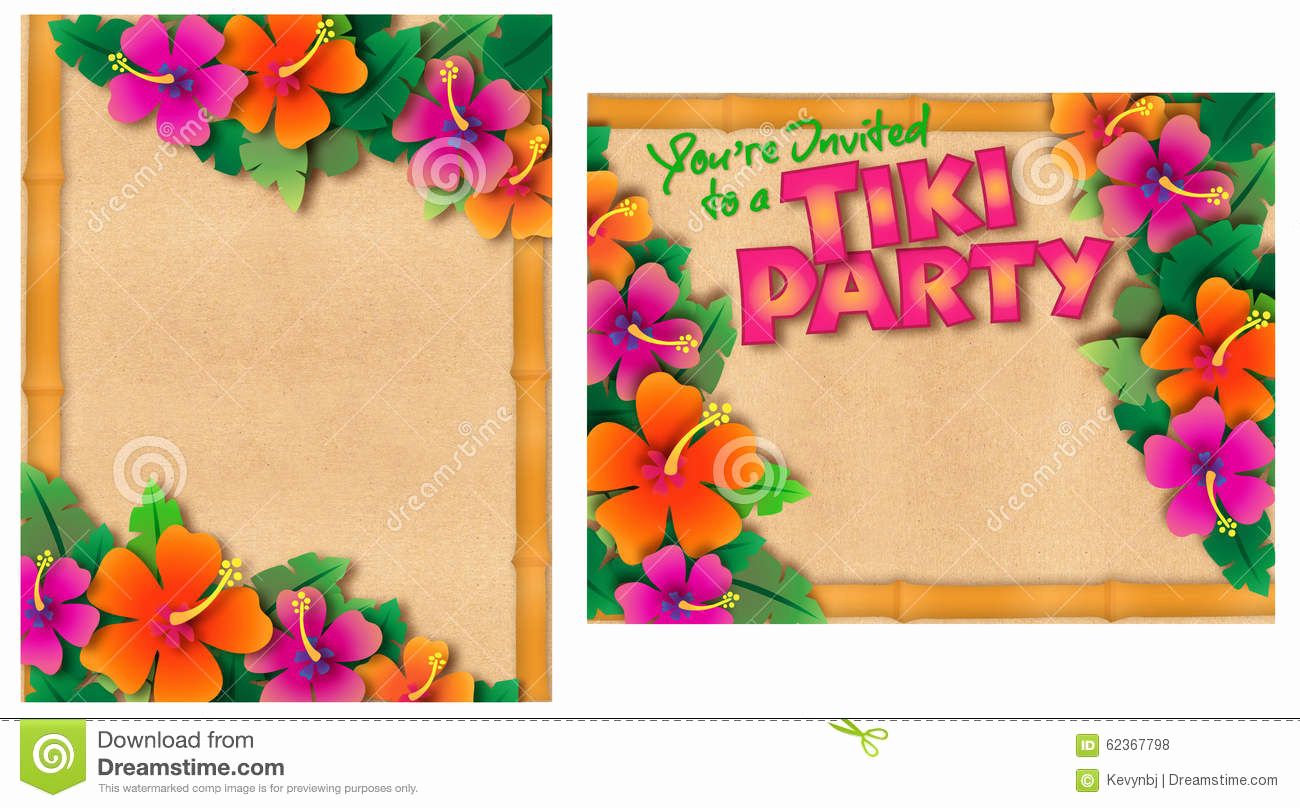 Blank Luau Invitation Borders Awesome 45 Pool Party Invitations