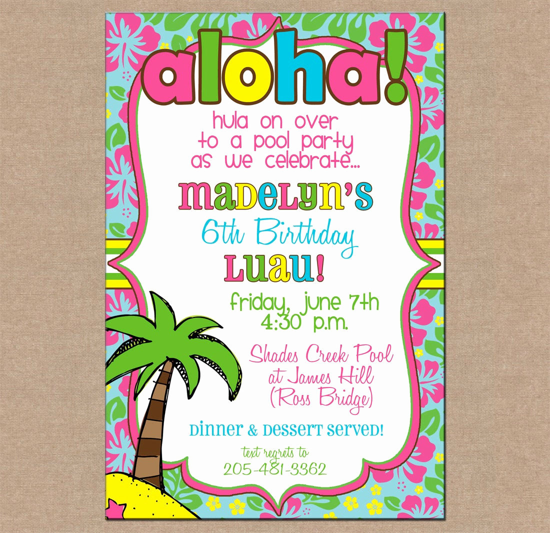 Blank Luau Invitation Borders Awesome Blank Luau Invitations
